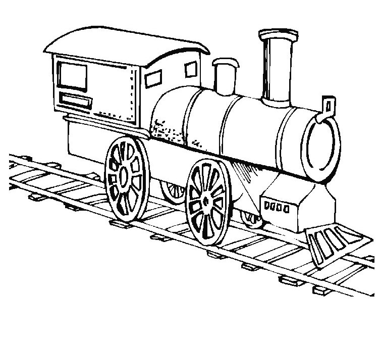 Train Coloring Sheet