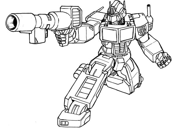 Transformers 4 Coloring Page