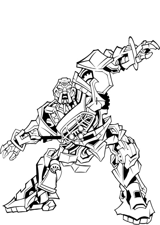 Printable Transformers Coloring Sheets