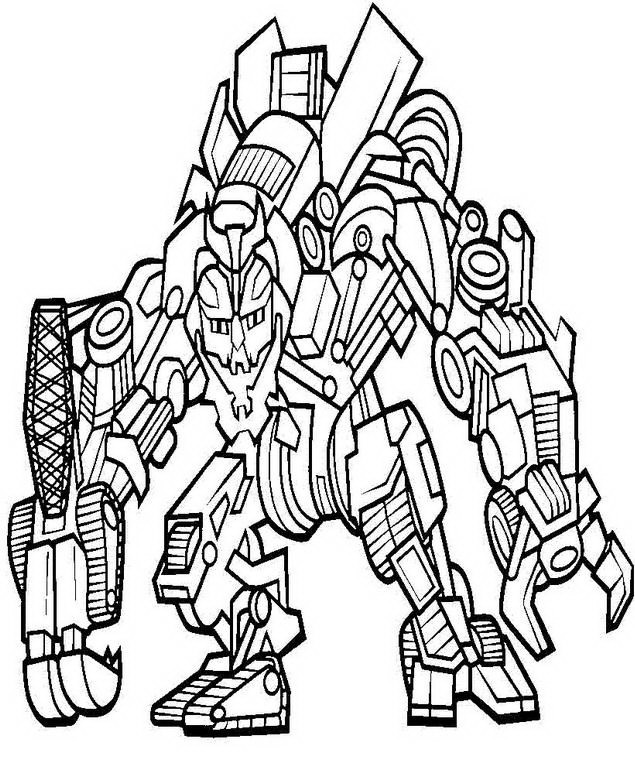 Transformers Coloring Pictures