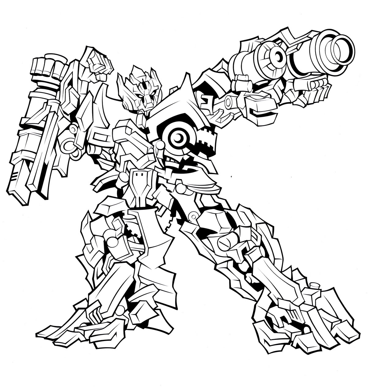 Transformers Prime Coloring Page
