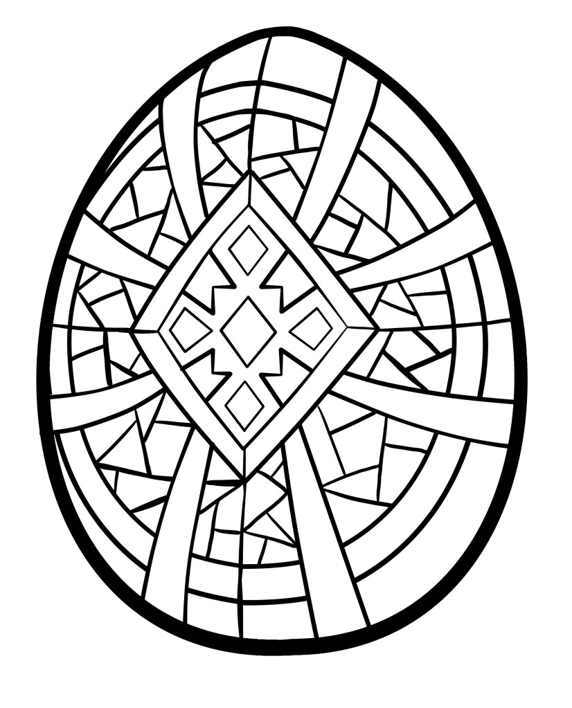 printable coloring pages easter eggs - photo#47