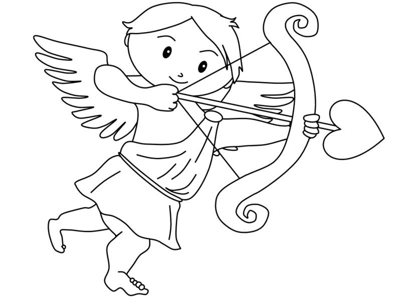 Valentines Cupid Coloring Pages