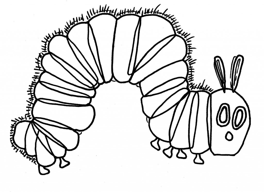 Printable Caterpillar Coloring Sheet Very Hungry Pages