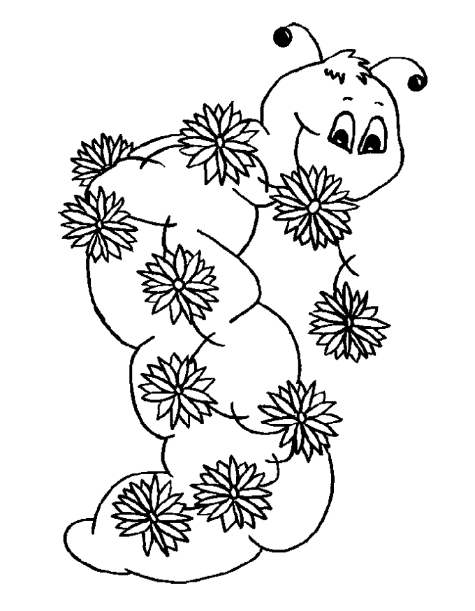 Very Hungry Caterpillar Coloring Pages Free