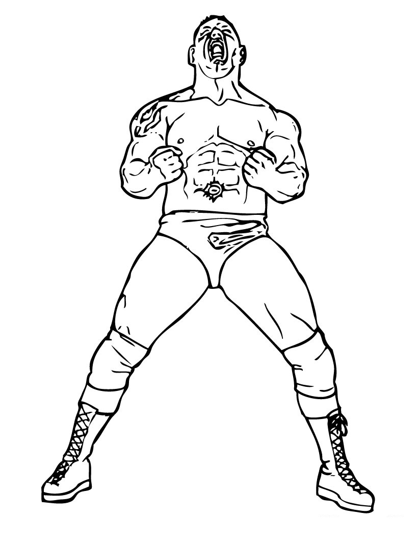 WWE Coloring Pages 2014