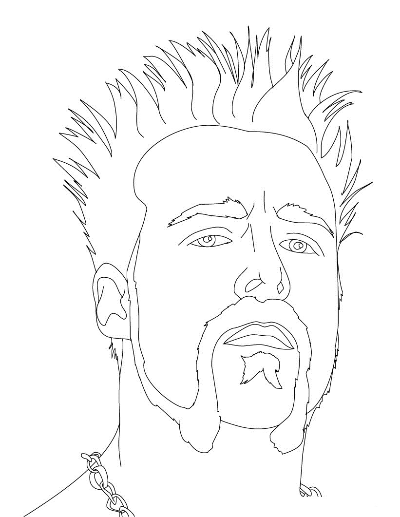 WWE CM Punk Coloring Pages
