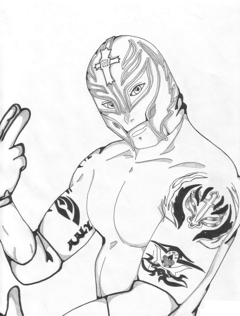 WWE Coloring Pages Free Print