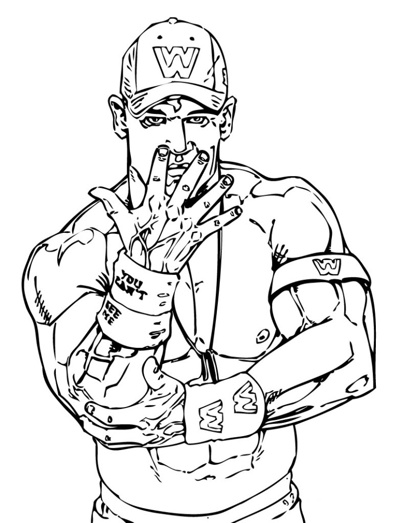 WWE Coloring Pages Rock