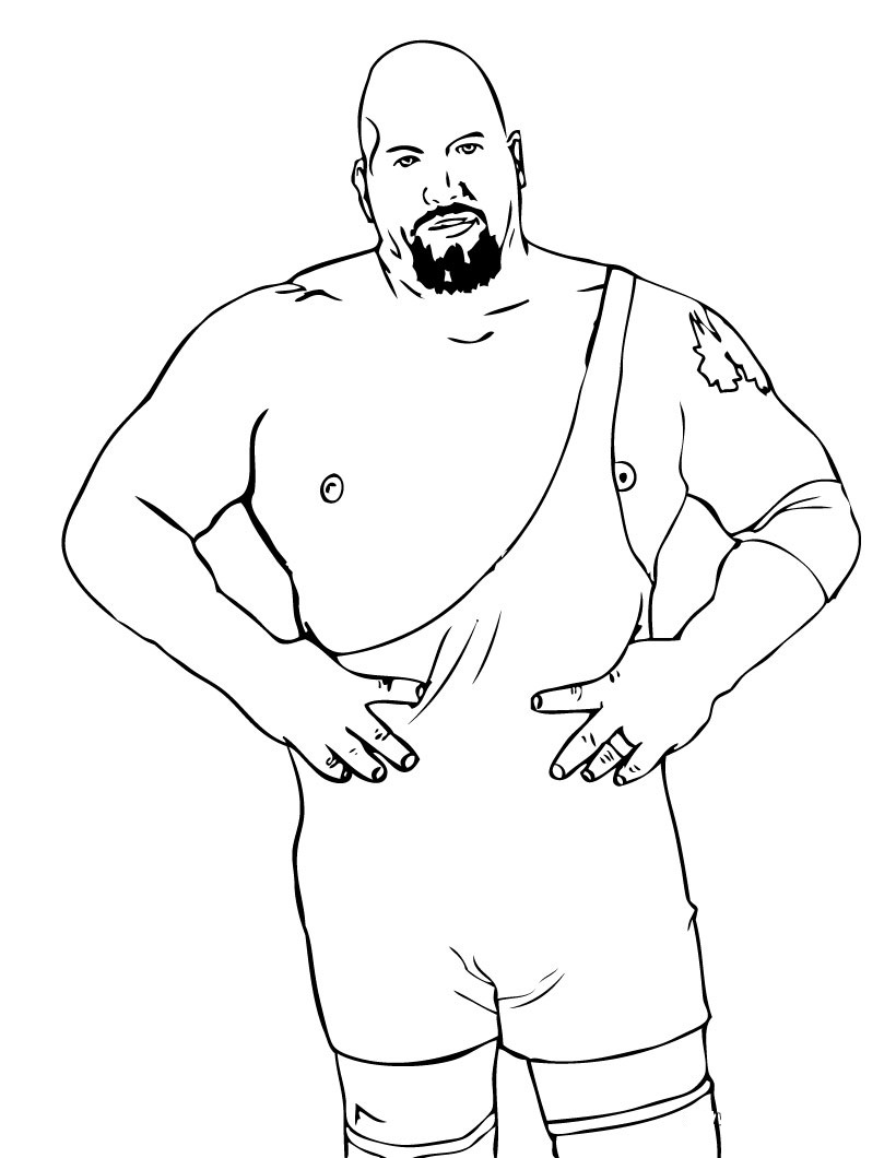 Free WWE Coloring Sheets