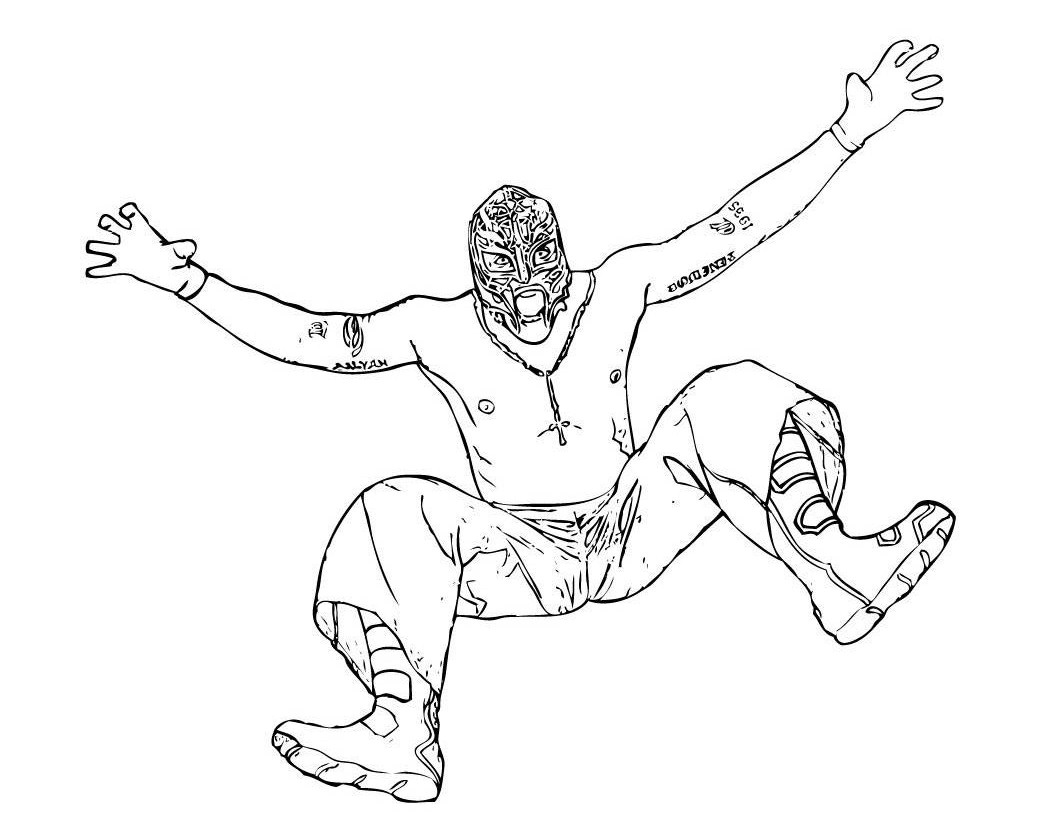 WWE Coloring Sheets Online Free