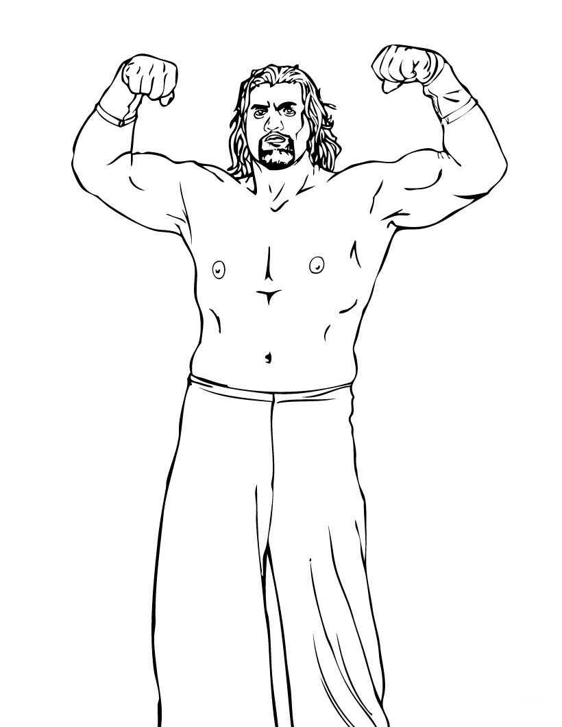 WWE Coloring Sheet