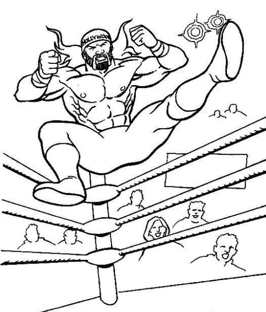 Free WWE Pictures to Color
