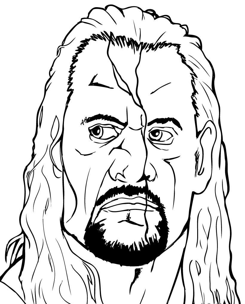 WWE Wrestlers Coloring Page