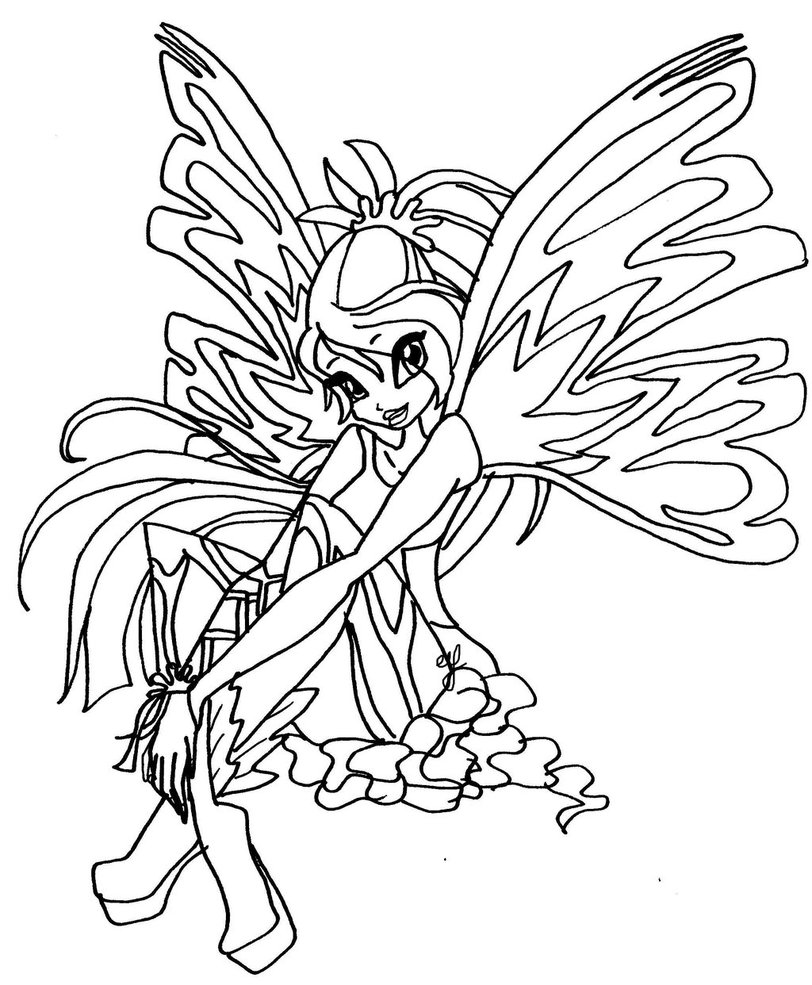 Kleurplaten Van Winx Club Sirenix.Winx Club Coloring Pages 360coloringpages