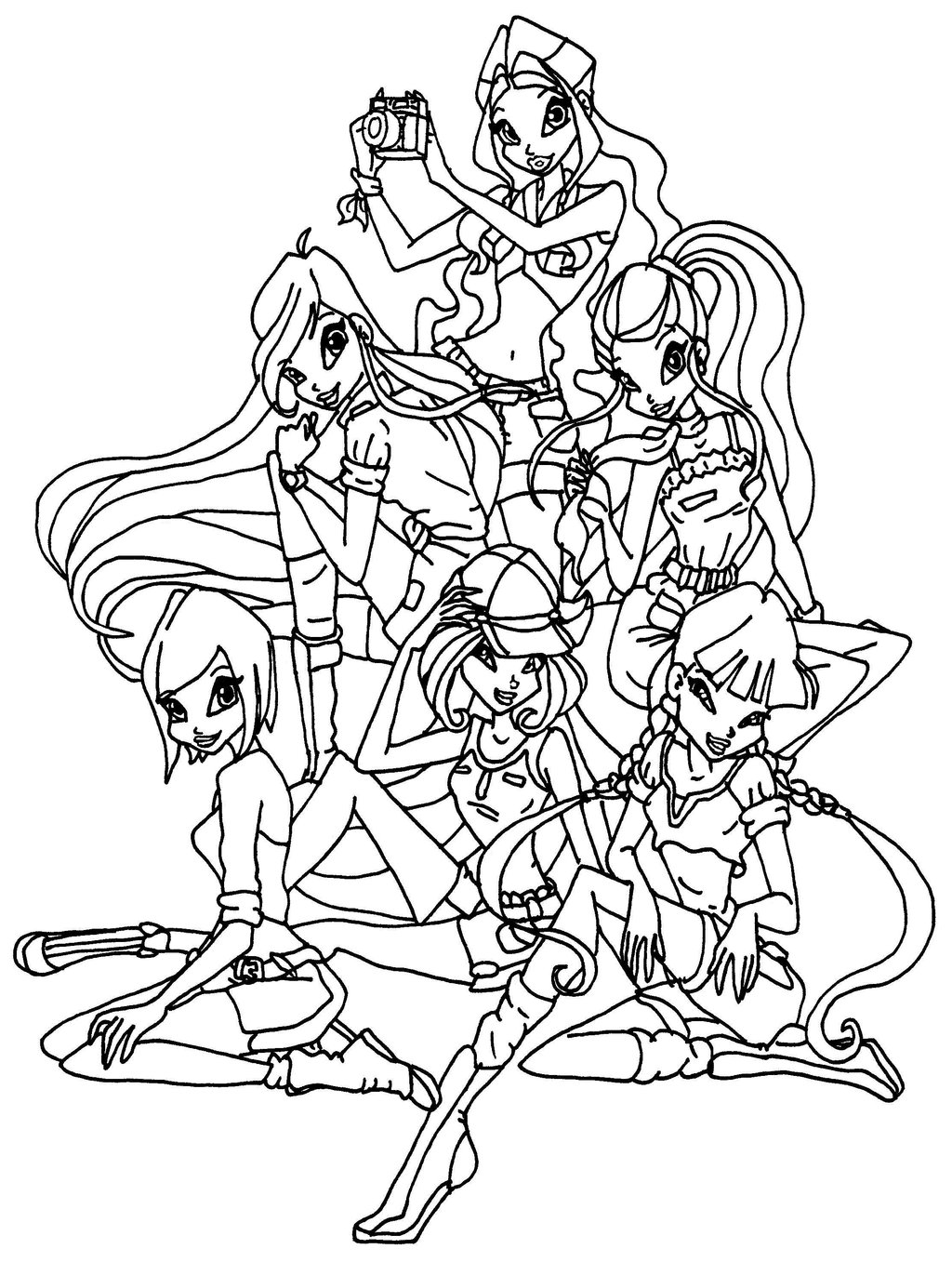Winx club coloring pages 360coloringpages for Photo to coloring page