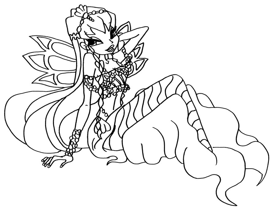 roxy moshling coloring pages - photo#16