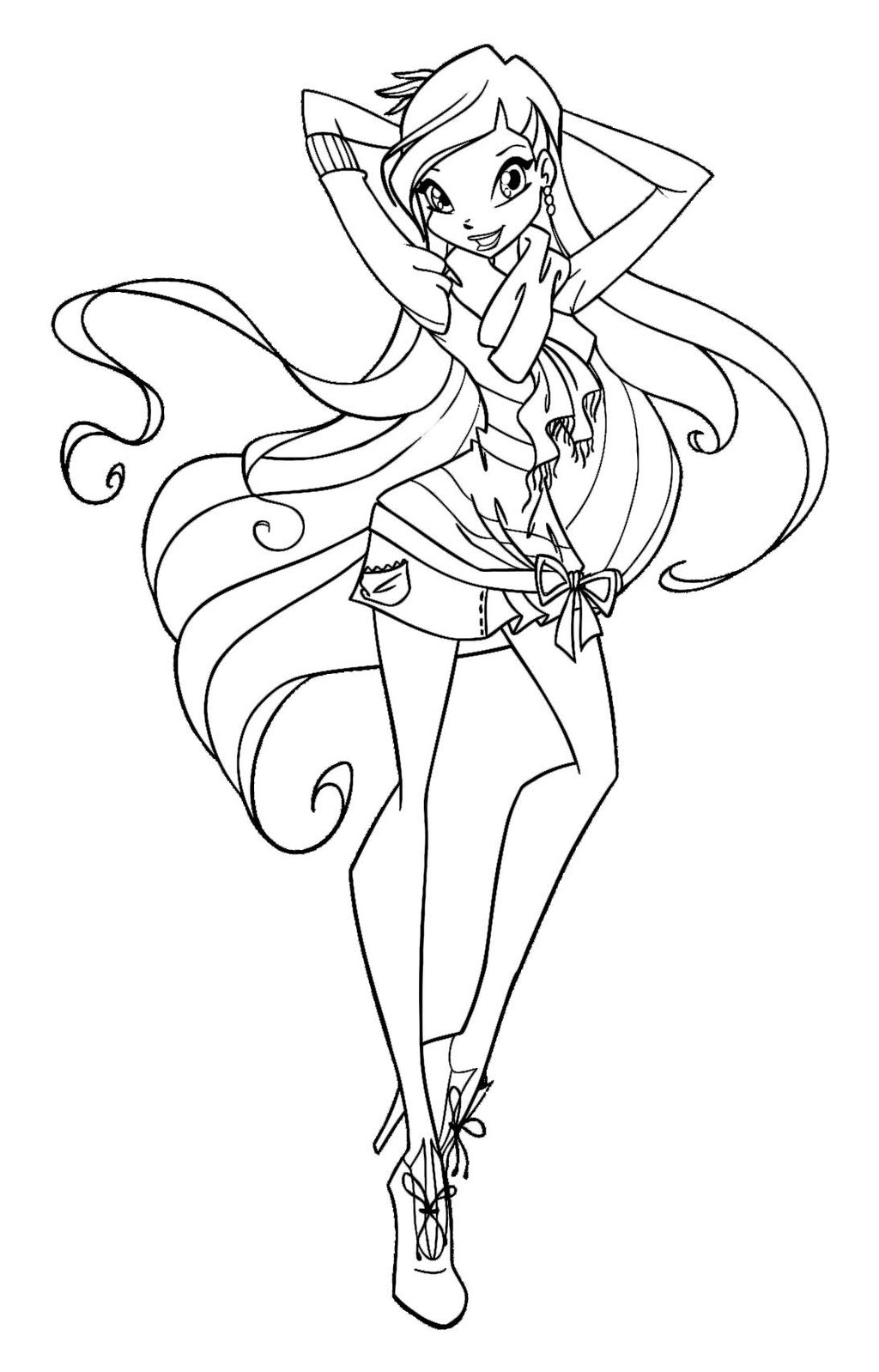winx club coloring pages stella - winx club coloring pages 360coloringpages