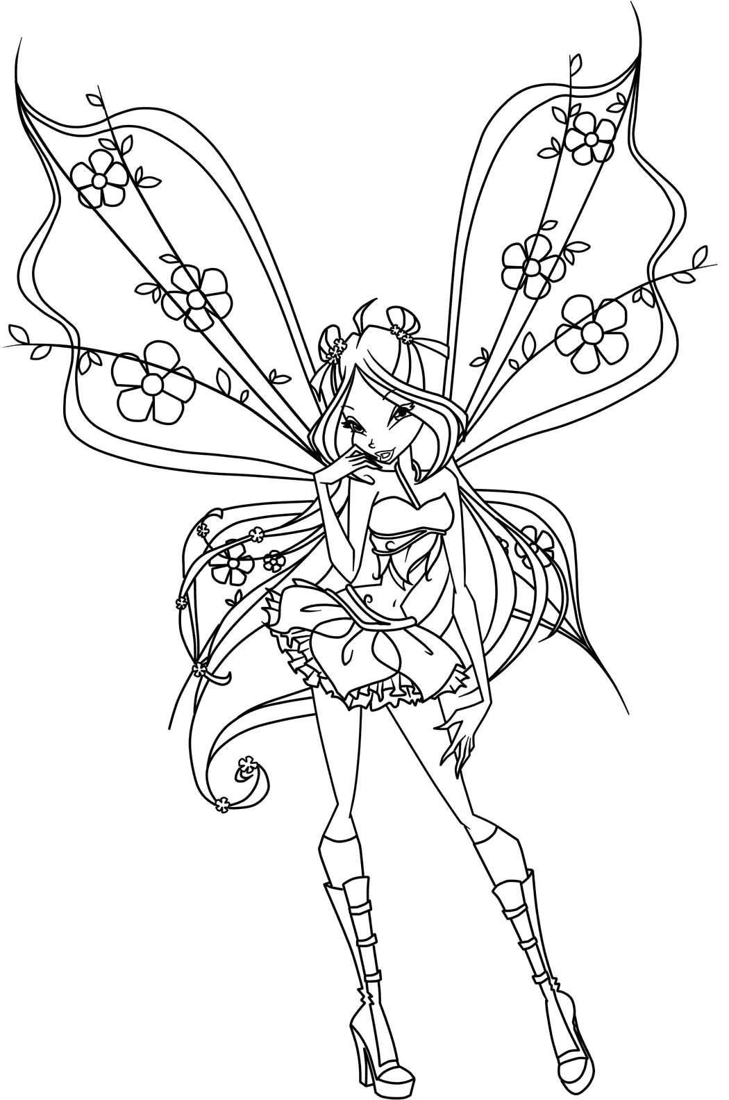 Free Printable Winx Coloring Pages