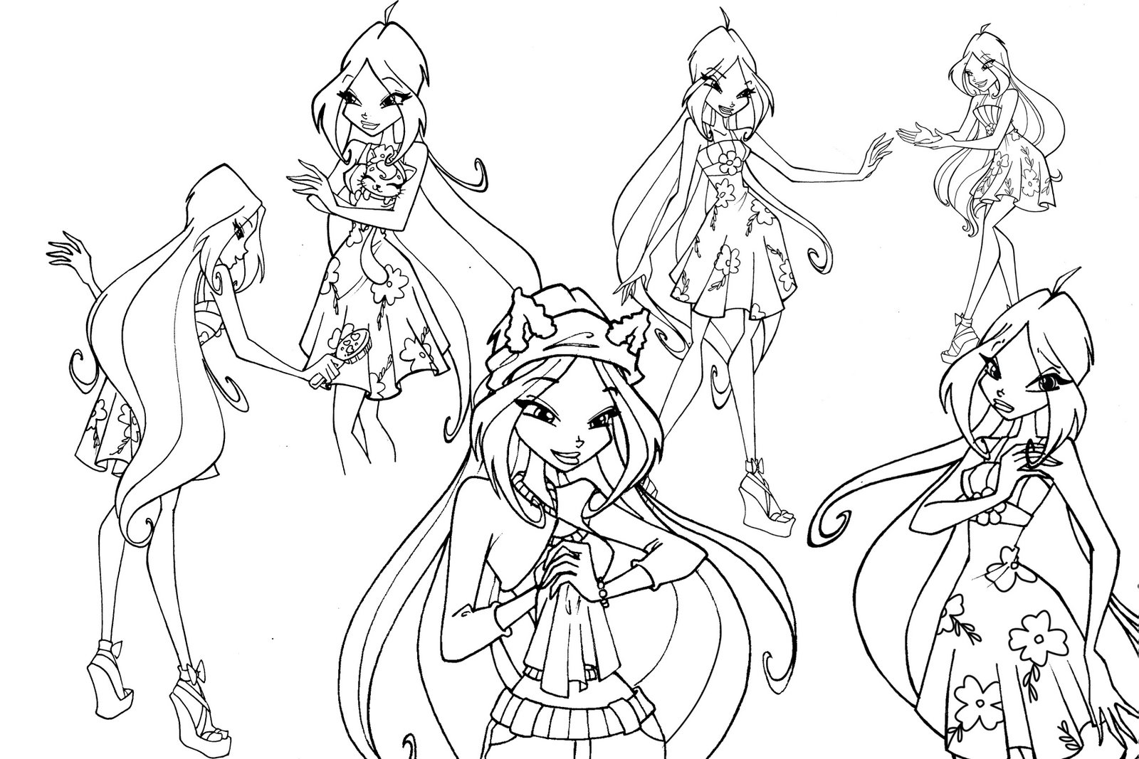 Winx Coloring Page Musa Free Pages