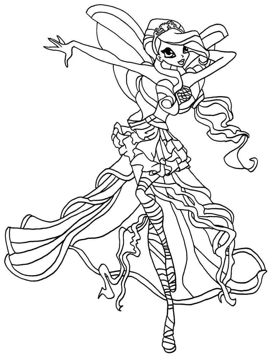 Kleurplaten Winx Enchantix.Winx Club Coloring Pages 360coloringpages