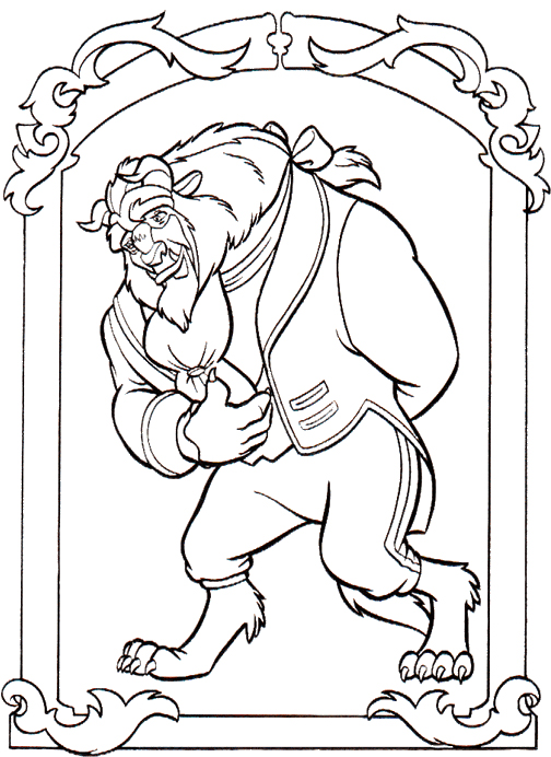 Beauty and the Beast Coloring Pages Beast