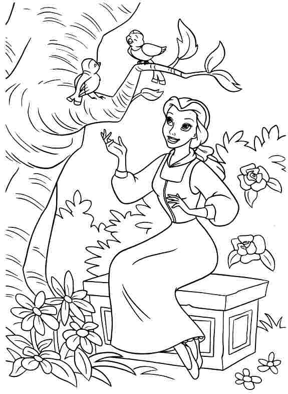 Belle from Beauty and the Beast Coloring Pages