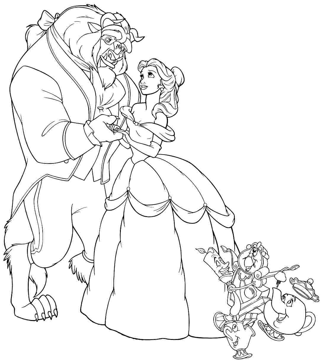 Beauty and the Beast Coloring Pictures