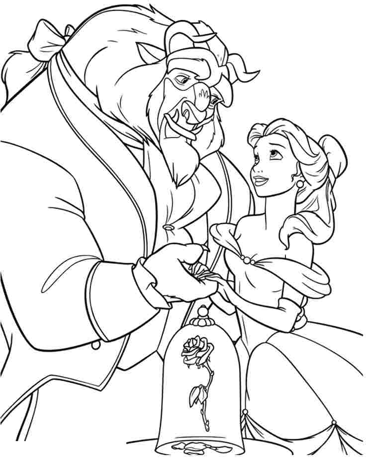 beauty and the beast coloring pages 360coloringpages