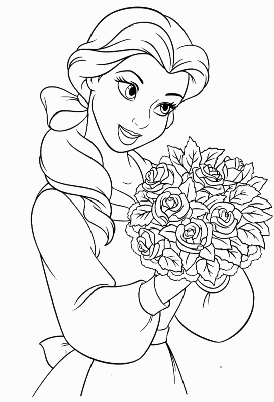 Beauty and the Beast Coloring Pages Belle