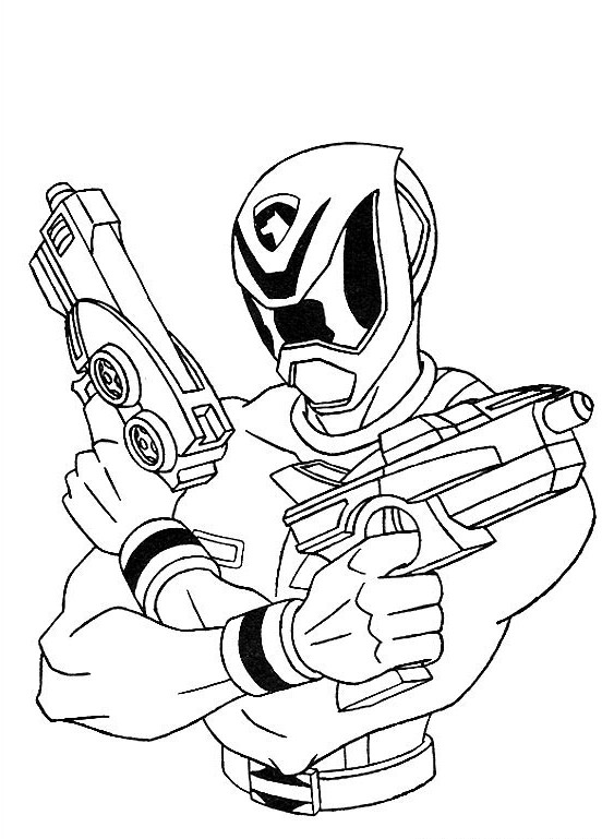 Blue Power Ranger Coloring Page