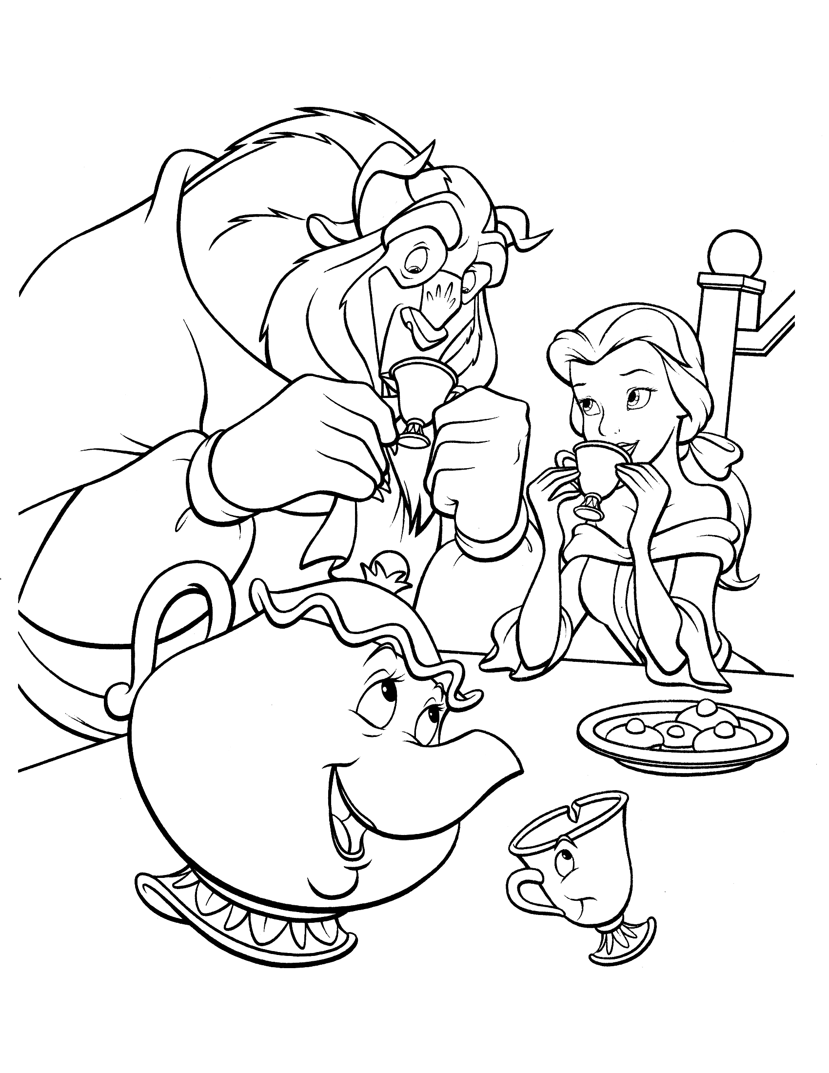 Coloring Pages of Beauty and the Beast