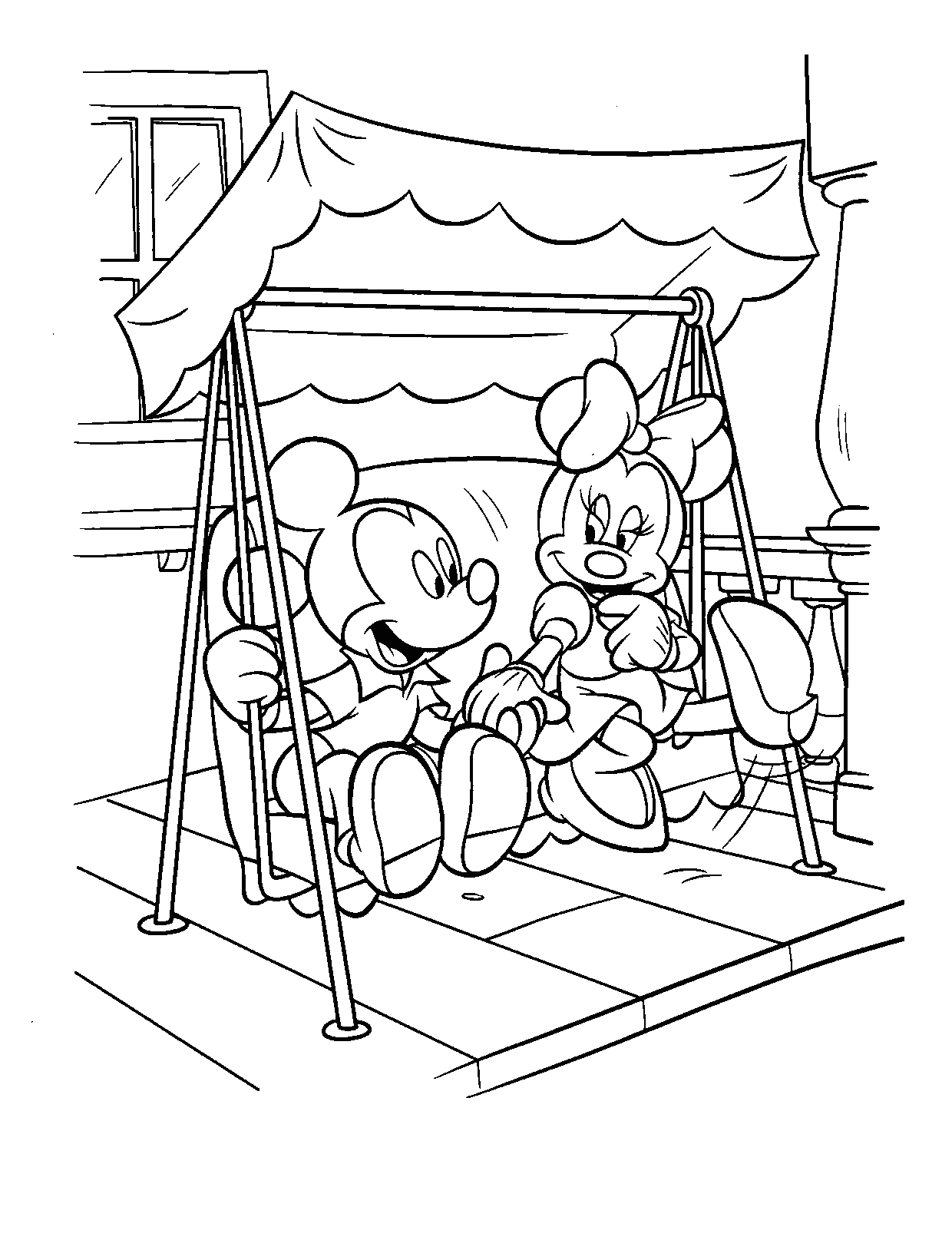 Mickey and Minnie Coloring Pages | 360ColoringPages