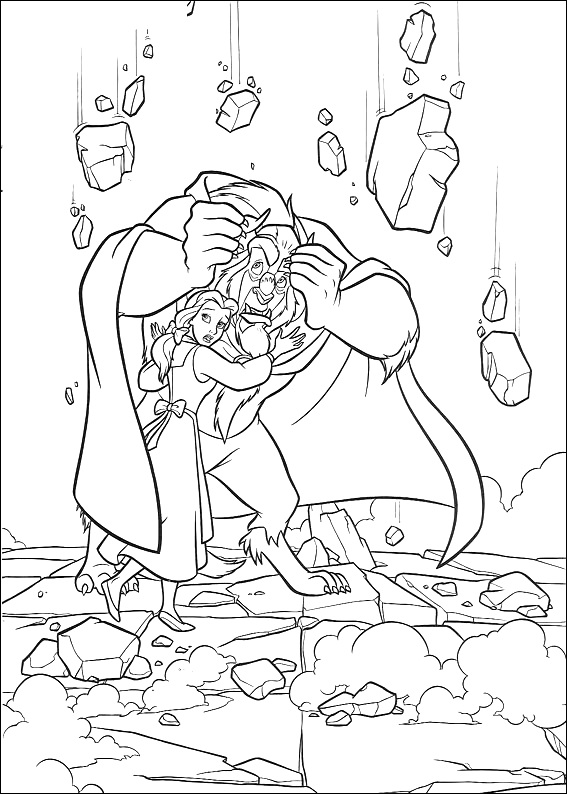 Coloring Page of Beauty and the Beast