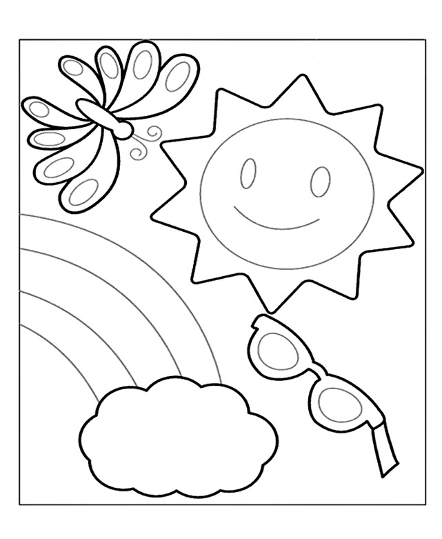 Summer coloring pages 360coloringpages for Free printable coloring pages summer