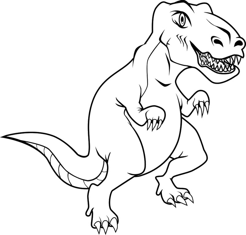 Coloring Pages T Rex Dinosaurs