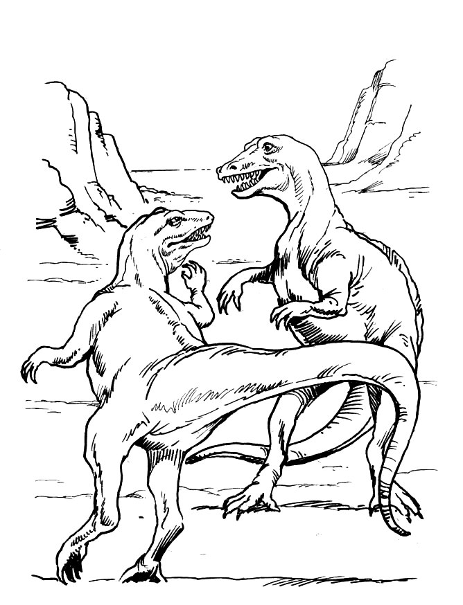 Coloring Pages of T-rex