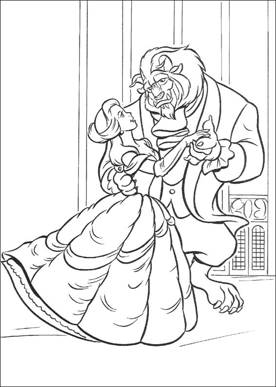 Coloring Pages Disney Beauty and the Beast