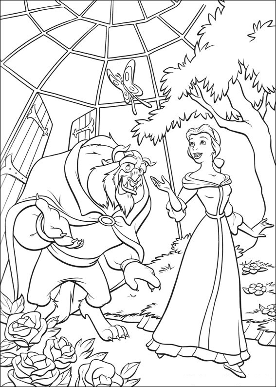 Beauty and the Beast Coloring Pages Free
