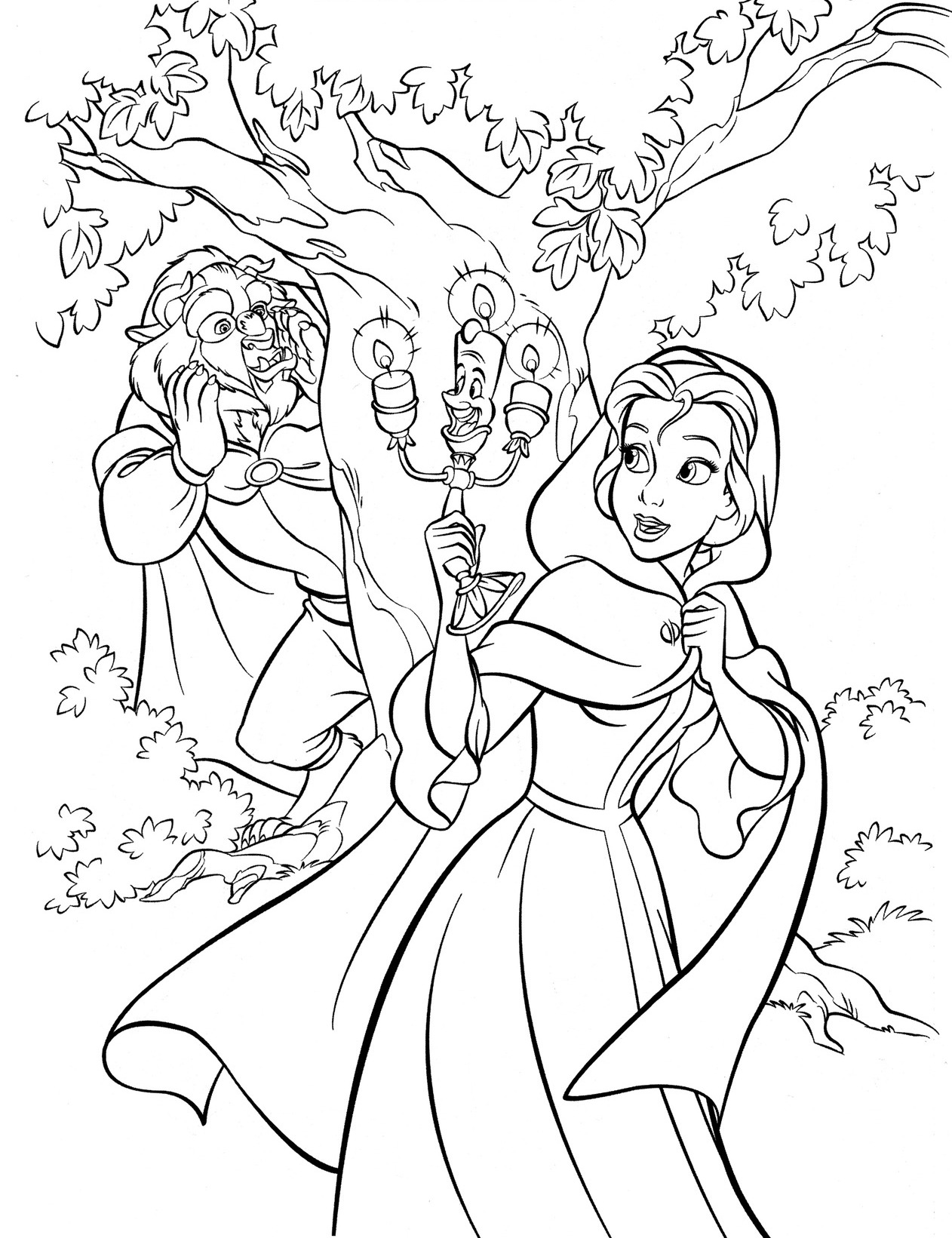Disney Beauty and the Beast Coloring Pages Free