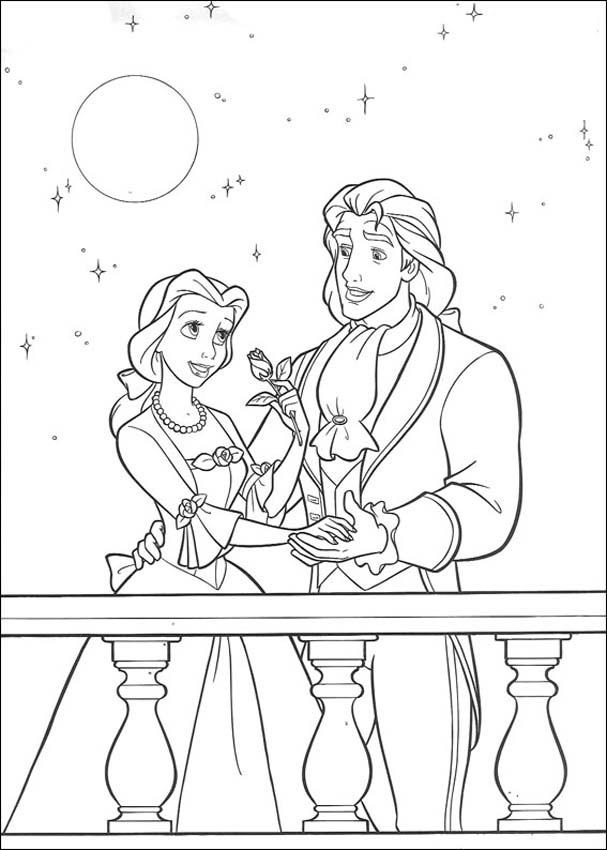 Beauty and the Beast Coloring Pages Free Printable