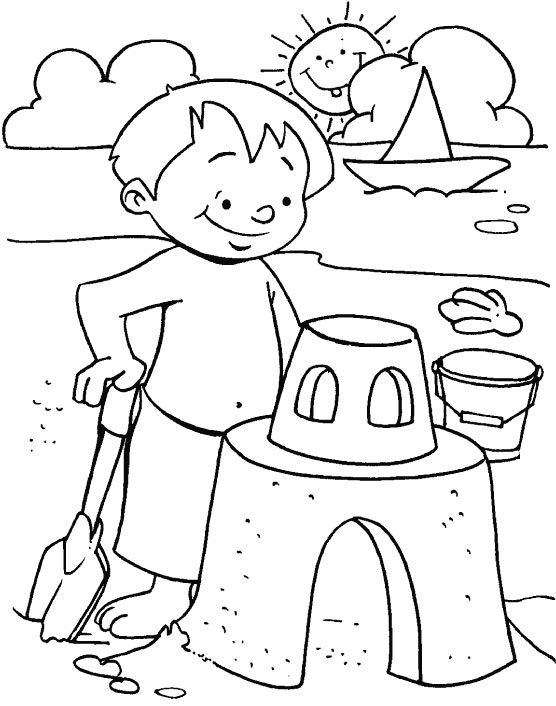 Summer Coloring Pages for Kids Free