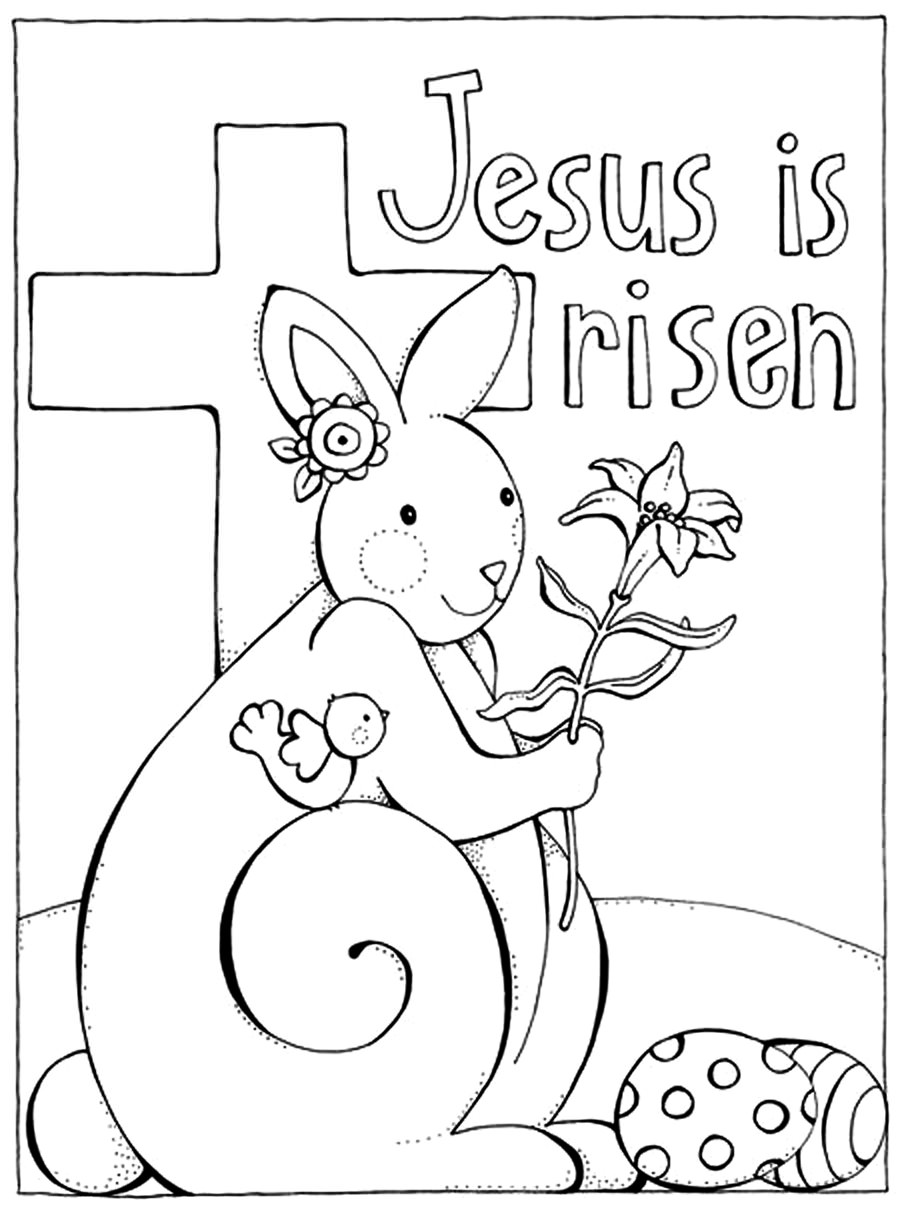 Easter Coloring Pages Jesus Christ