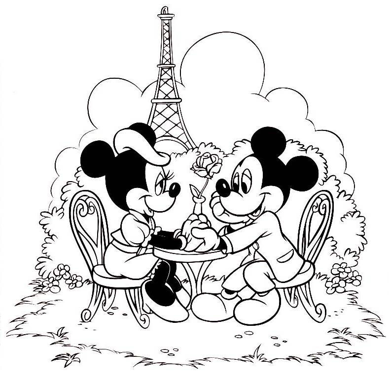 Mickey And Minnie Coloring Pages 360coloringpages Mickey And Minnie Coloring Pages
