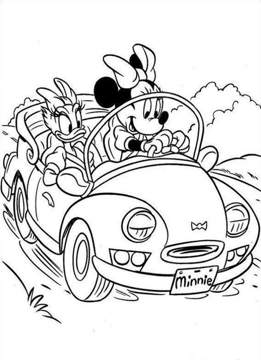 Minnie mouse coloring pages 360coloringpages for Minnie mouse coloring page