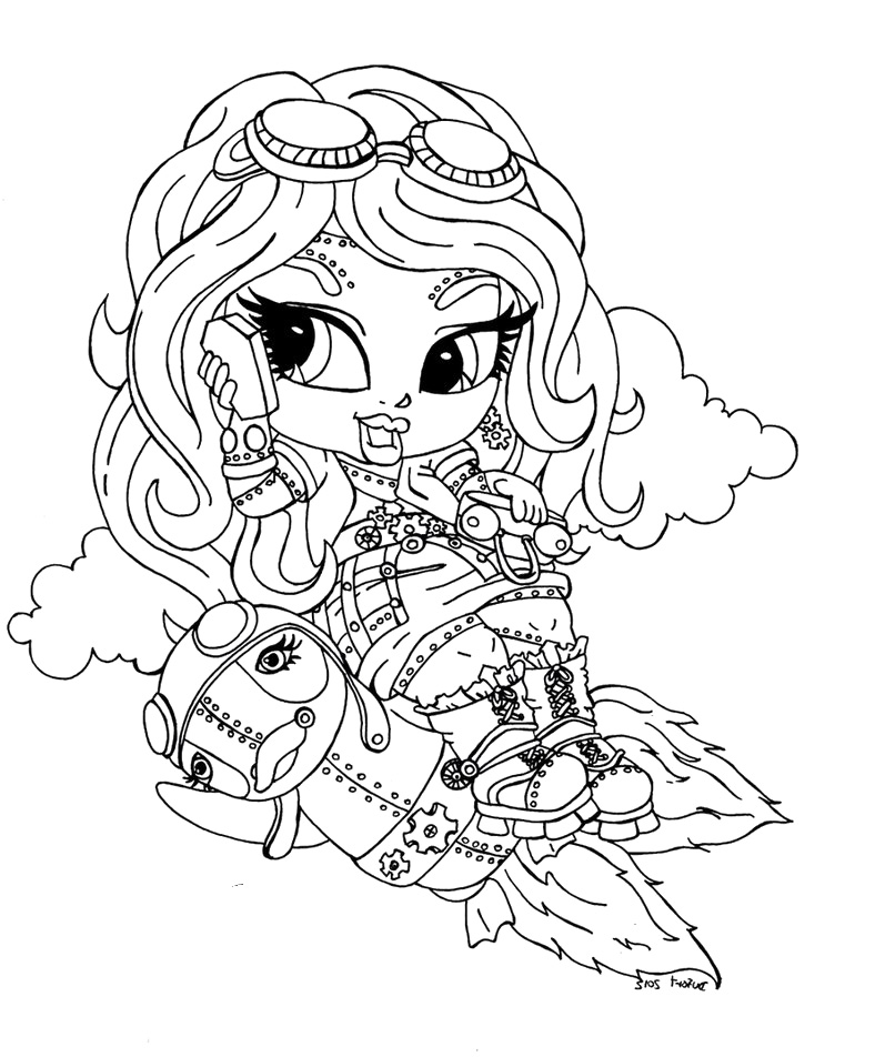 Coloring Page: Monster High Coloring Pages