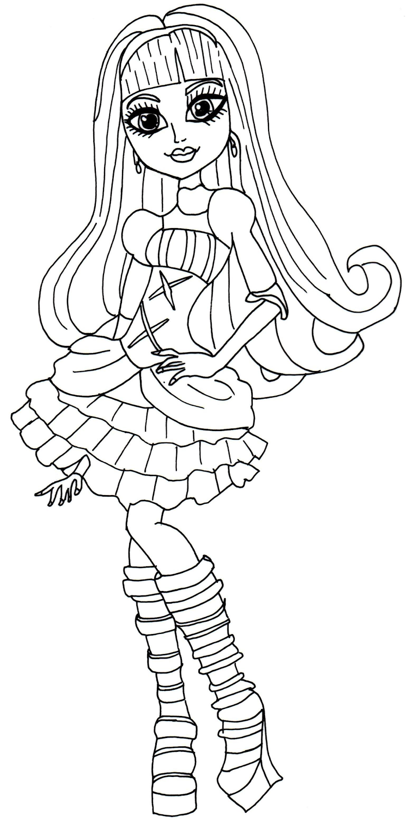 Monster High Ausmalbilder Catty Noir : Monster High Coloring Pages 360coloringpages