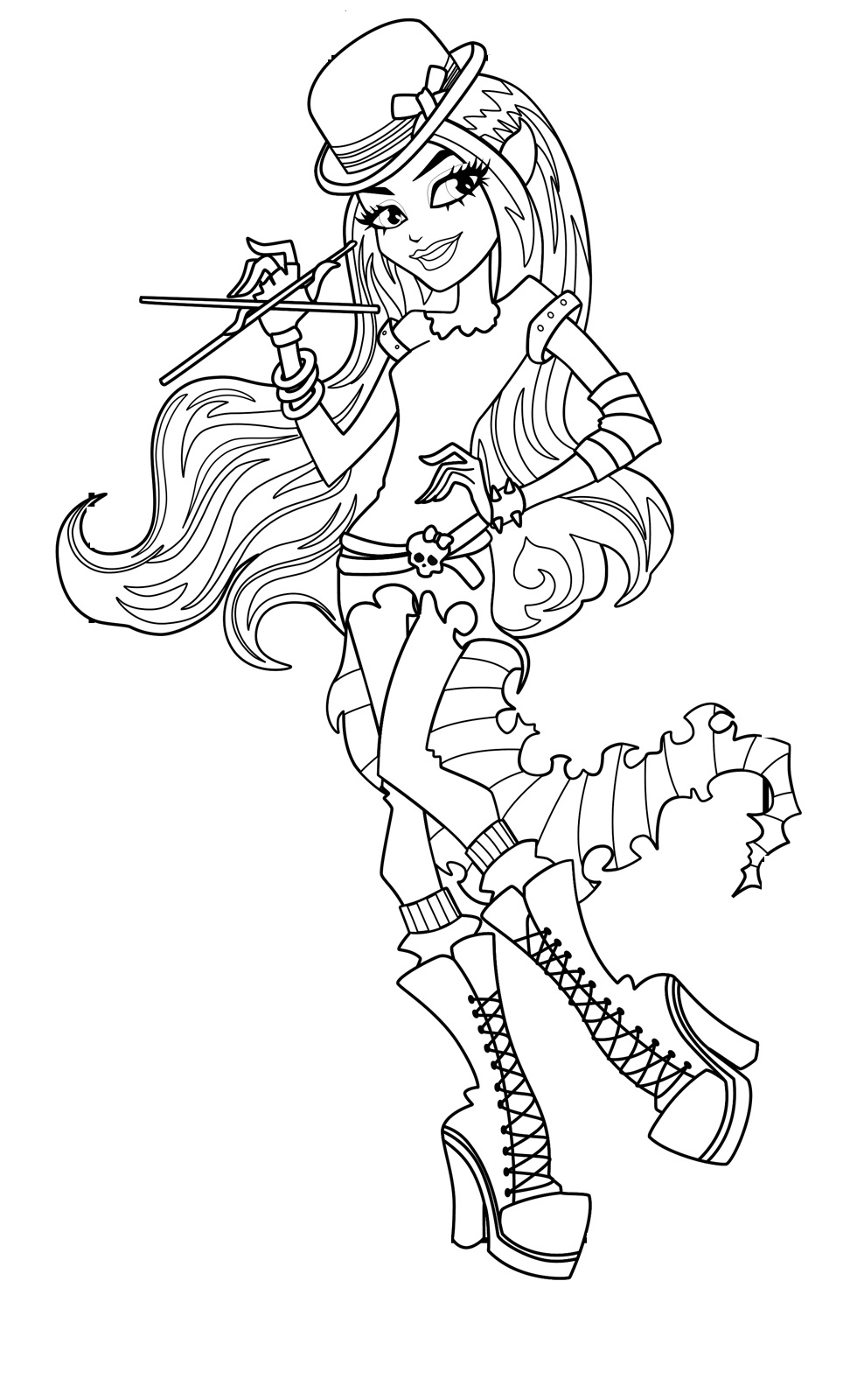 Ausmalbilder Monster High Cleo De Nile : Monster High Coloring Pages 360coloringpages