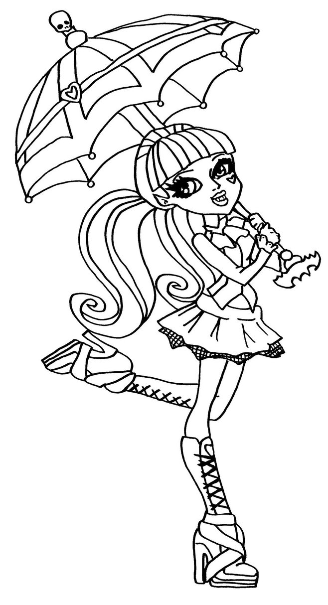 Monster high coloring pages 360coloringpages for Print monster high coloring pages