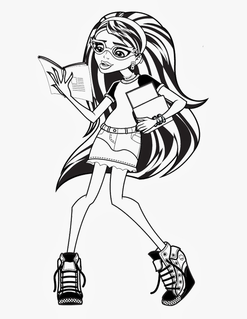 Monster High Ghoulia Coloring Pages